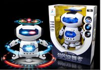 Wholesale New creative space robot dance toys rotating new children toys