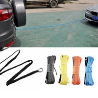 Wholesale Hot x Car towing rope Synthetic Cable Rope for Auto Car Traction Replacement Rope Traction rope winch