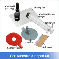auto windshield glass - Car Windshield Repair Kit tools Auto Glass Windscreen repair set Give Door Handle Protective Decorative Stickers