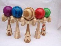 Wholesale Free DHL shipping new fashion kendama Bamboo wood kendama