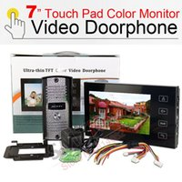 Wholesale 7inch touch screen Color Monitor Video Doorphone Night Vision Camera intercom System