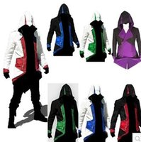 Wholesale Hot Sale Assassins Creed III Conner Kenway Hoodie Coat Jacket Cosplay Costume High Quality