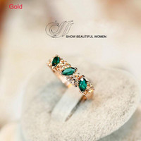 emeralds - 1 PC Best Luxury Women Ladies Emerald Rhinestone Crystal Finger Dazzling Ring Jewelry