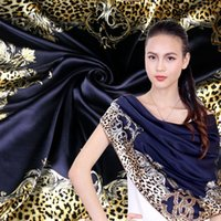 Cheap Samuel may Shire autumn silkworm silk satin shawl large square scarf decorative beading genuine warmth