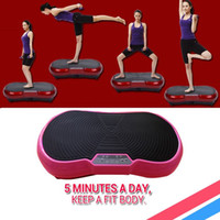 Wholesale New arrival W standing type Body Fitness vibrating exercise weight loss slimming Machine Vibration plate Russia