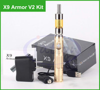 kit de voltaje variable x9 al por mayor-X9 armadura V2 atomizador kits 1300mAh voltaje variable X9 cigarrillos electrónicos ego 510 hilo encajar Protank iclear 30 aero v2 ic30s Caja de regalo DHL