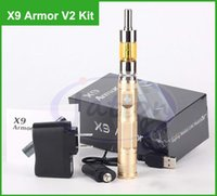 Cheap X9 armor V2 atomizer kits 1300mAh variable voltage X9 electronic cigarettes ego 510 thread fit Protank iclear 30 aero v2 ic30s Gift box DHL