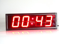 Wholesale Brand New Indoor Red LED Countdown Clock Countdown Count Up Time In Minutes Seconds LED Race Sport Timing Clock For Marathon Running Events