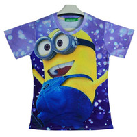 Cheap 2015 Men women t-shirt cute cartoon anime figure despicable me minions clothes minion costume clothing t shirts boy wear