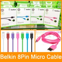 Wholesale Belkin Date Sync Cable USB M FT charger Cable For iphone Plus S supports ios with Retail Package DHL
