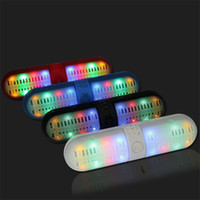 led button light - Design Bluetooth Wireless Speaker With LED Colorful Lights Mini Portable Music Player for Iphone Android Subwoofers S13