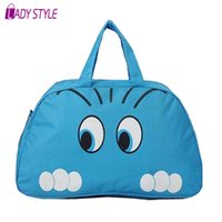 Wholesale 2015 New Women Handbag Women Lady Nylon Cat Print Travel Bags Luggage Duffle Sport Bags Blue Pink HL6561