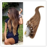attach hair extensions - Brazilian Micro Loop Human Hair Extensions A Thick Micro Bead Attached Remy Straight g pc grams High Quality