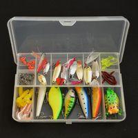 Wholesale fishing lure soft baits fishing set silicone bait kit jig head wobbler minnow pesca squid jigs fishing kit for fishing