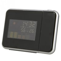 Cheap 1pc alarm clock Weather Station Projection Alarm Clock Can Be Rotated 180 Degrees