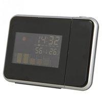 antique station clocks - 1pc alarm clock Weather Station Projection Alarm Clock Can Be Rotated Degrees