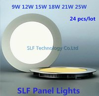 Cheap 24pcs lot Free DHL High power Round Led Panel Light SMD 2835 9W 12W 15W 18W 21W 25W Led Ceiling Bulb lamp spotlight downlight