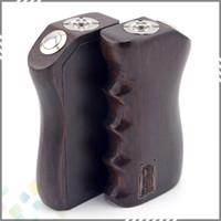 18650 Electronic cigarette Qiangba Wood Box Mod Vaporizer Qiangba Wood Box Mod fit 18650 battery 510 Atomizer best E Cigarette Full Mechanical Mod Wooden Box Mod DHL Free