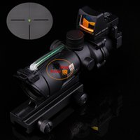 Rifle Scopes trijicon - 2015 New Trijicon TA31 ACOG Style X32 Real Fiber Source Duel Illuminated Sight Scope RMR Micro Red or Green Fiber
