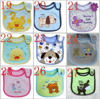 Wholesale 99 models Infant saliva towels layer toddler Baby bibs Baby burp cloths kids cotton handkerchief children animal bibs
