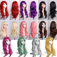 Wholesale Women s Lady Long Hair Wig Curly Synthetic Anime Cosplay Party Full Wigs