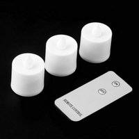 Wholesale 3pcs LED Electronic Flameless Smokeless Candle Lights With Remote Control