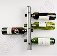 Wholesale 50PCS HHA716 Hot Sell Partical Stainless Steel Bar Wine Rack Wine Shelf Wall Mounted Holder Bottles