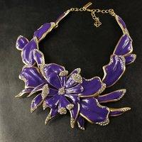 Cheap fashion accessories flower diamond necklace Women necklace N00218
