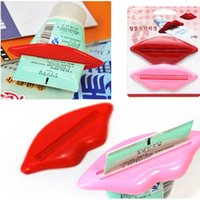 Wholesale 2014 Time limited Promotion Bathroom Suite Sets Accessories Toothpaste Facial Cleanser Dispenser lips