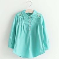 collar t-shirt - Girls Tops Blouses Princess Lace Long Sleeve T Shirts Girl Dress Spring Ruffle Shirts Child Shirt Children Clothes Kids Clothing C20245