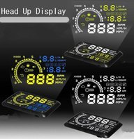 Wholesale Multi Function OBD2 W02 HUD Car Head Up Display System Speed Engine Details Showing OBD II For Night Overspeed Fresh Driving