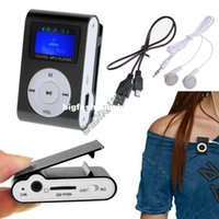 Wholesale MINI Clip MP3 Player With Micro TF SD Card Slota With Cable USB Earphone mp3 players CB025087