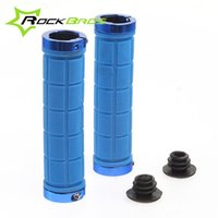 Wholesale RockBros Cycling Fixed Gear Grips MTB Mountain Bike Bicycle Handlebar Soft Durable Lock on Grips Rubber Cycle Parts Color