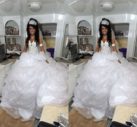Cheap Luxurious Arabic Wedding Dresses Sexy Ball Gown Sweetheart Backless Sheer Lace Bodice Ruched Cathedral Train 2015 Hot Organza Wedding Gowns