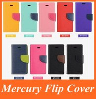 Cheap Mercury Wallet Flip Leather Case Cover with Stand Holder for iPhone 6S Plus 4.7 5.5 5S Samsung Galaxy Note 5 S6 Edge Plus Mobile Phone Cases
