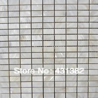 Wholesale home improvement freshwater shell mosaic tile mother of pearl white natural floor mosaics tiles background wall
