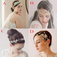 crowns - 2015 Vintage Bridal Crown Tiara Wedding Jewelery Bohemia Hair Accessories Elegant Headpieces Frontlet Hair Band headbands for Bridal