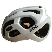 bicycle helmets cheap - Cheap POC helmet Cycling Protective Gear Bicycle helmets with Blue White Black color size L High quality Bike wear