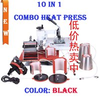 Wholesale New Design In Combo Heat Press Machine ransfer Sublimation Machine Can Be Used On Plate Mug Cap TShirt Etc