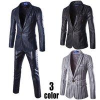 Cheap (Jackets+Pants) 2015 New Single-button Men Suits Slim Fit Tuxedo High Quality Bridegroom Business Dress Wedding Suits Blazer
