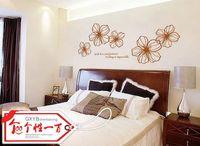 acrylic painting landscape - Elegant wall stickers personality floweryness blackboard flower vine acrylic decoration decorative painting
