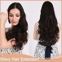 Wholesale 10Set cm inch Clip In Hair Extensions set Curly Hairpiece Heat Resistance Synthetic Hair Extension