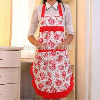 Wholesale Women Lady Dress Restaurant Home Kitchen with Pocket Cooking Cotton Apron Bib