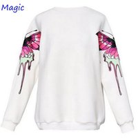 Magic Newest fashion Lovers Butterfly printing thin Sweatshirt Hoodie Women man Cotton Sport Casual Unisex hoodies