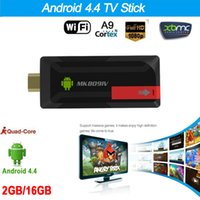RK3188T MK809IV Mini PC Android 4.4 TV Stick Dongle Quad Core 2G/16G XBMC DLNA WiFi Bluetooth 4.0 Android tv dongle airplay V1110