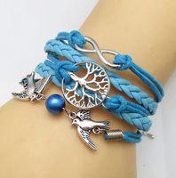 Wholesale Girl Bracelet Friendship Bird Tree Handmade Braided Bracelet New Fashion Teenager Hand Strap for