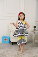 chevron clothing - Children Outfits Boutique Girls Clothes Cotton Chevron Baby Girl Ruffles Outfits Set Children Clothing Sets