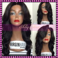 Cheap Medium Brown Full lace Wigs Best European hair Body Wave cheap Lace front Wig