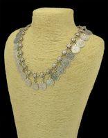 handmade necklace - Flower Child Silver Coin Necklace Anklet Set Jewelry Set Adjustable Handmade floral design Boho Gypsy Beachy Ethnic necklace bracelet sets