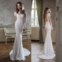 Cheap Mermaid Berta Wedding Dresses Best Long Sleeve Bridal Dresses